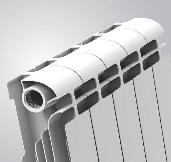 алюминиевый двухканальный радиатор